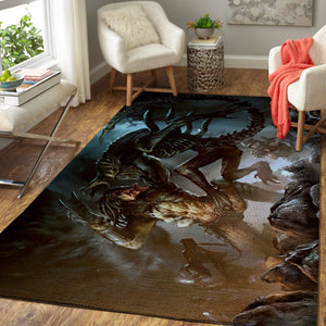 Alien vs. Predator Area Rugs / Movie Living Room Carpet, Custom Floor Decor 4