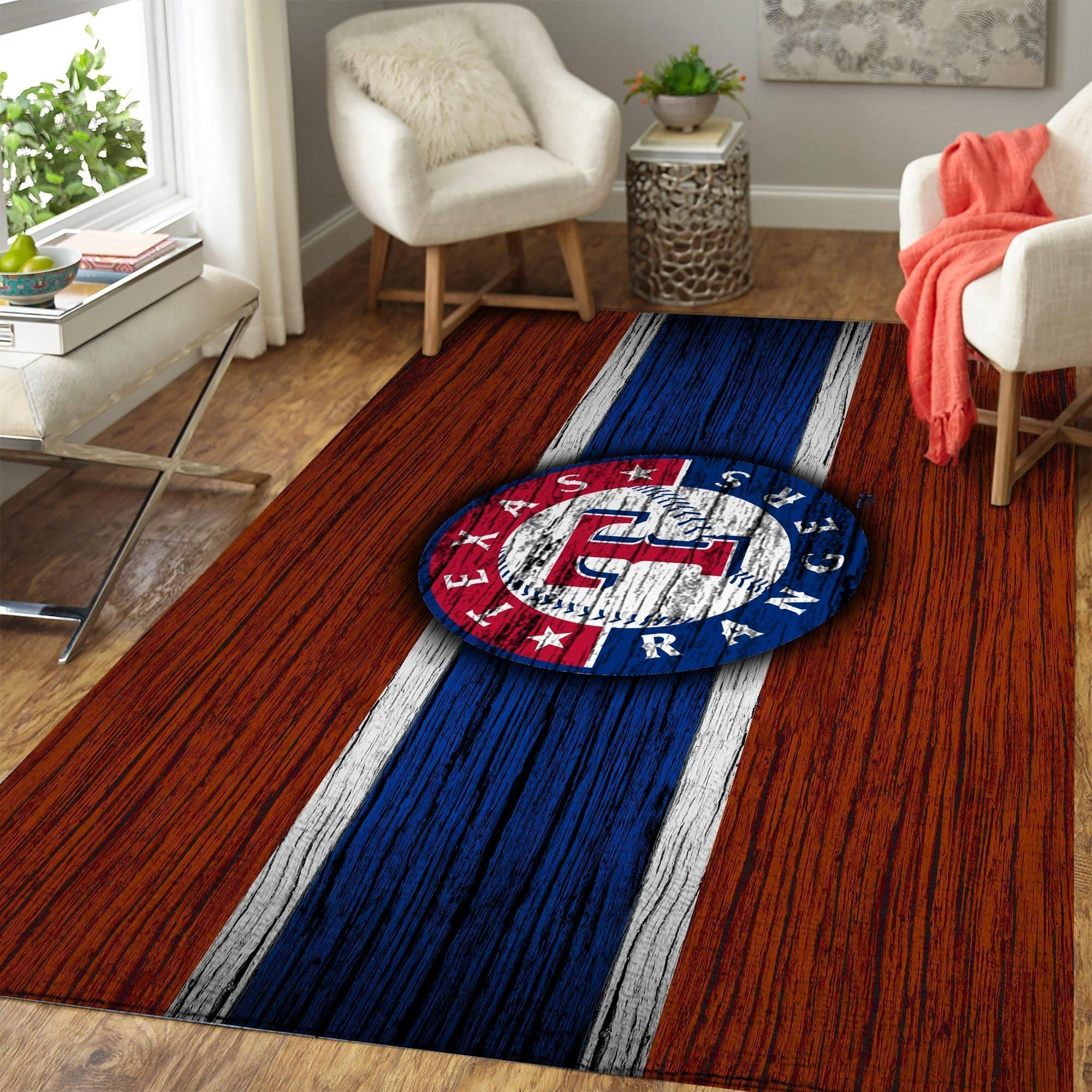 Texas Rangers Area Rugs MLB Baseball Team Living Room Carpet Sport Custom Area Floor Home Decor