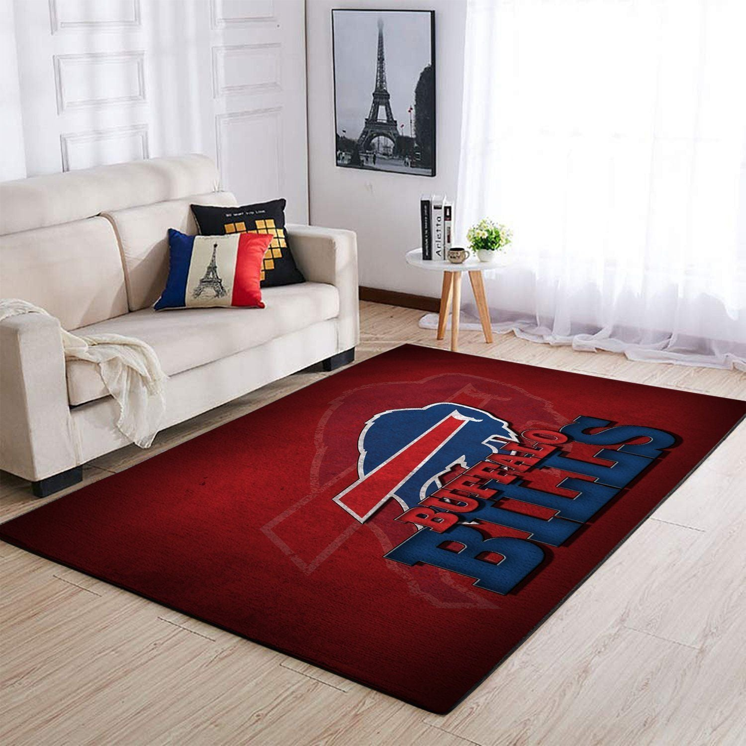Buffalo Bills Area Rug, NFL Football Team Logo Carpet, Living Room Rugs Floor Decor 1910074