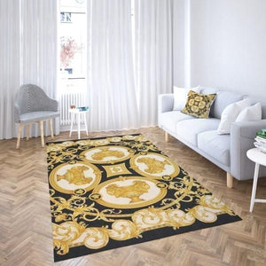 Versace Pattern Area Rug Hypebeast Carpet, Luxurious Fashion Brand Logo Living Room  Rugs, Floor Decor 071145