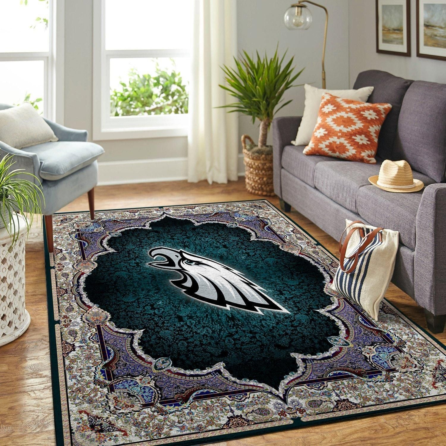 Philadelphia Eagles Area Rugs NFL Football Team Living Room Carpet Carpet Sport Custom Area Floor Home Decor