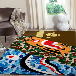 BAPE Area Rug Hypebeast Carpet, Luxurious Fashion Brand Logo Living Room  Rugs, Floor Decor 1912048