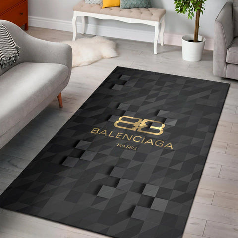 Balenciaga Area Rug, Dark Hypebeast Carpet, Luxurious Fashion Brand Logo Living Room  Rugs, Floor Decor 200218