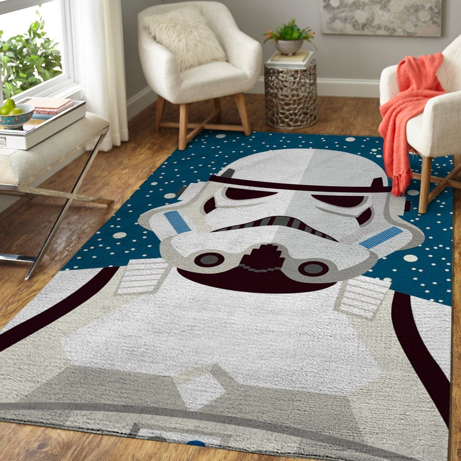 Stormtrooper Area Rugs, Star Wars Movie Living Room Carpet, Custom Floor Decor 6