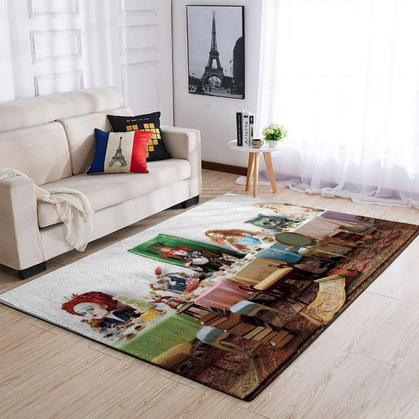 Alice in Wonderland & Jungle Book Area Rugs / Disney Carpet Living Room Carpet, Custom Floor Decor