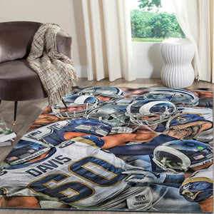 Los Angeles Rams Team Area Rugs NFL Football Living Room Carpet Team Logo Custom Floor Home Decor 190910