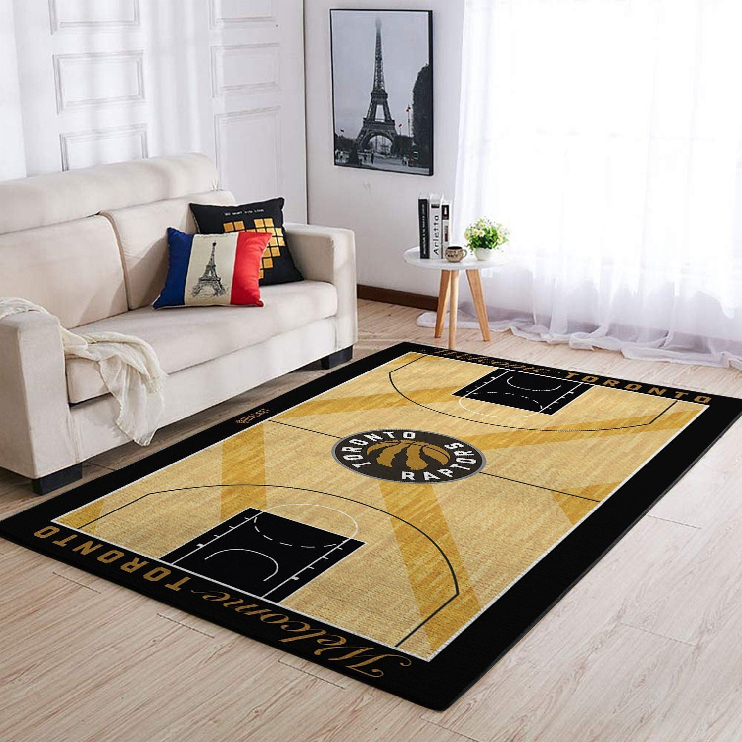 Toronto Raptors Area Rug, NBA Basketball Team Logo Carpet, Living Room Rugs Floor Decor 2003273