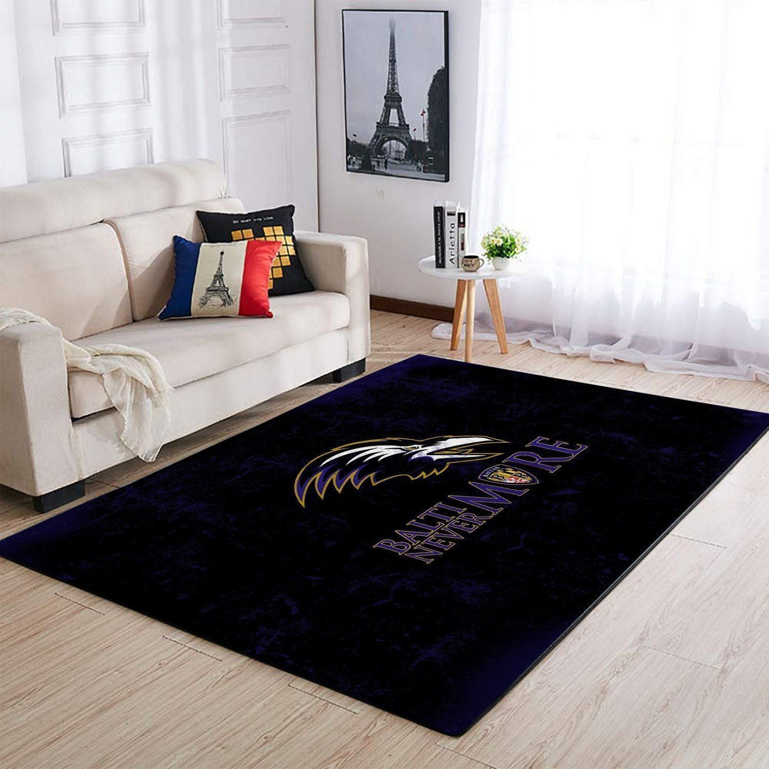 Baltimore Ravens Area Rugs NFL Football Living Room Carpet Team Logo Custom Floor Home Decor 1910072