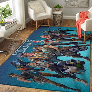 Fortnite Area Rug Video Game Carpet, Gamer Living Room Rugs, Floor Decor 190926
