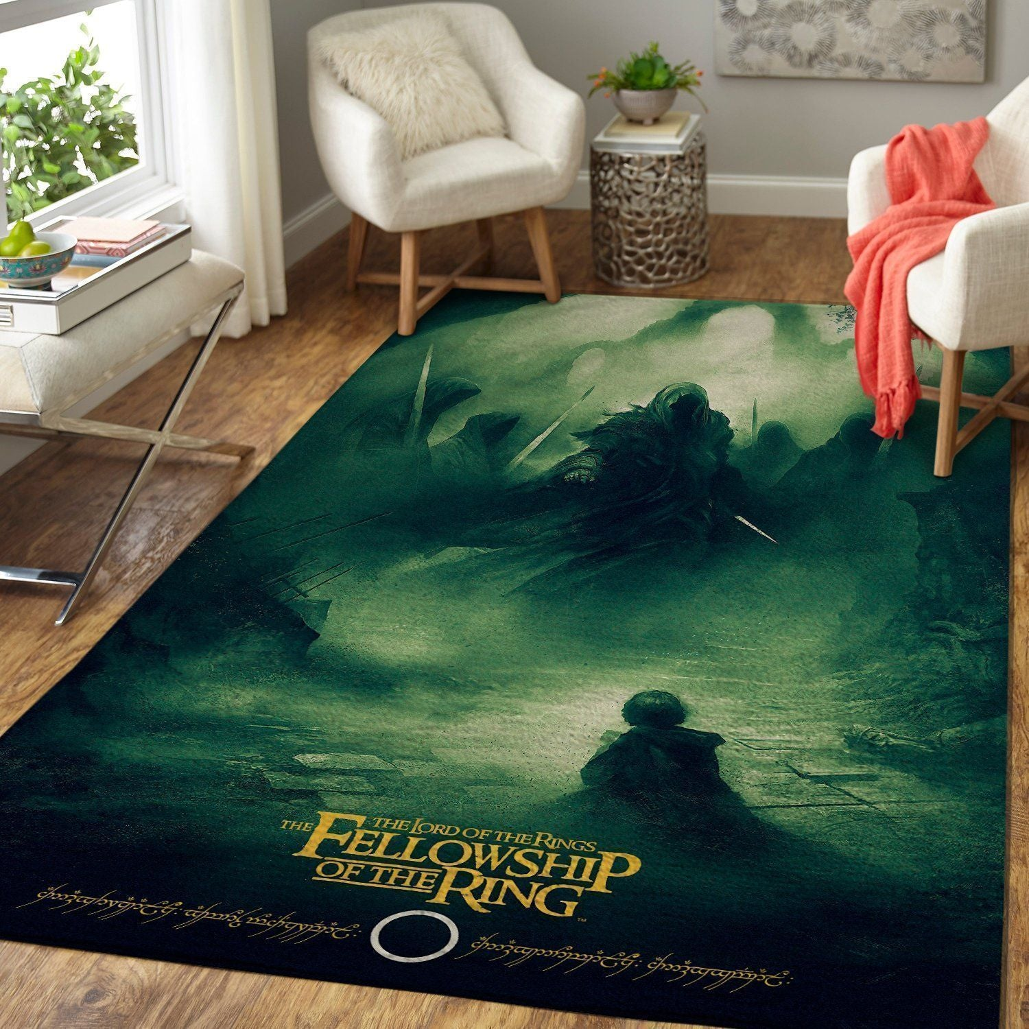 The Lord of The Rings Area Rugs - The Fellowship of The Ring / Movie Living Room Carpet, Custom Floor Decor