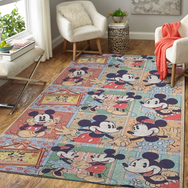 Mickey Mouse Area Rugs, Disney Movie Living Room Carpet, Custom Floor Decor 01