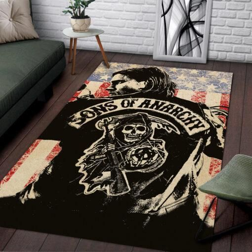 Sons of Anarchy Area Rugs / Movie Living Room Carpet, Custom Floor Decor 021134