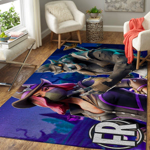 Fortnite Area Rug Video Game Carpet, Gamer Living Room Rugs, Floor Decor F251011