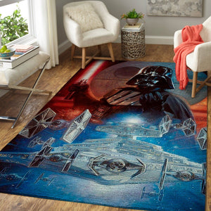 Death Star & Darth Vader Area Rugs, Star Wars Carpet, Superheroes Living Room Carpet, Custom Floor Decor 19101917