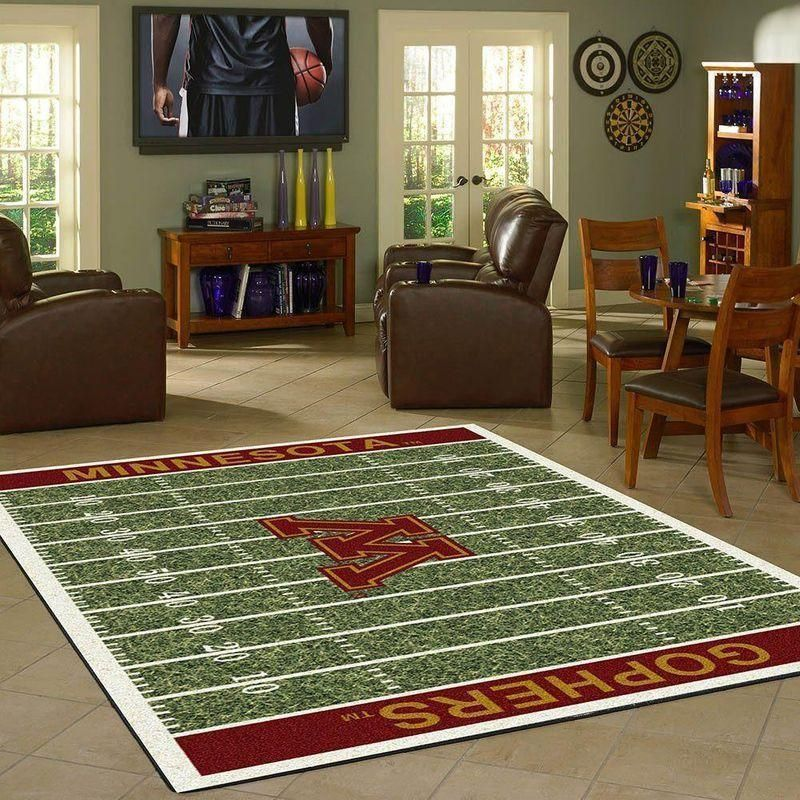 Minnesota Golden Gophers Home Field Area Rug, Football Team Logo Carpet, Living Room Rugs Floor Decor F102163