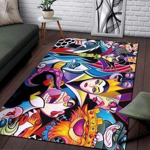 Disney Villains Area Rugs  / Movie Living Room Carpet, Custom Floor Decor HH30102