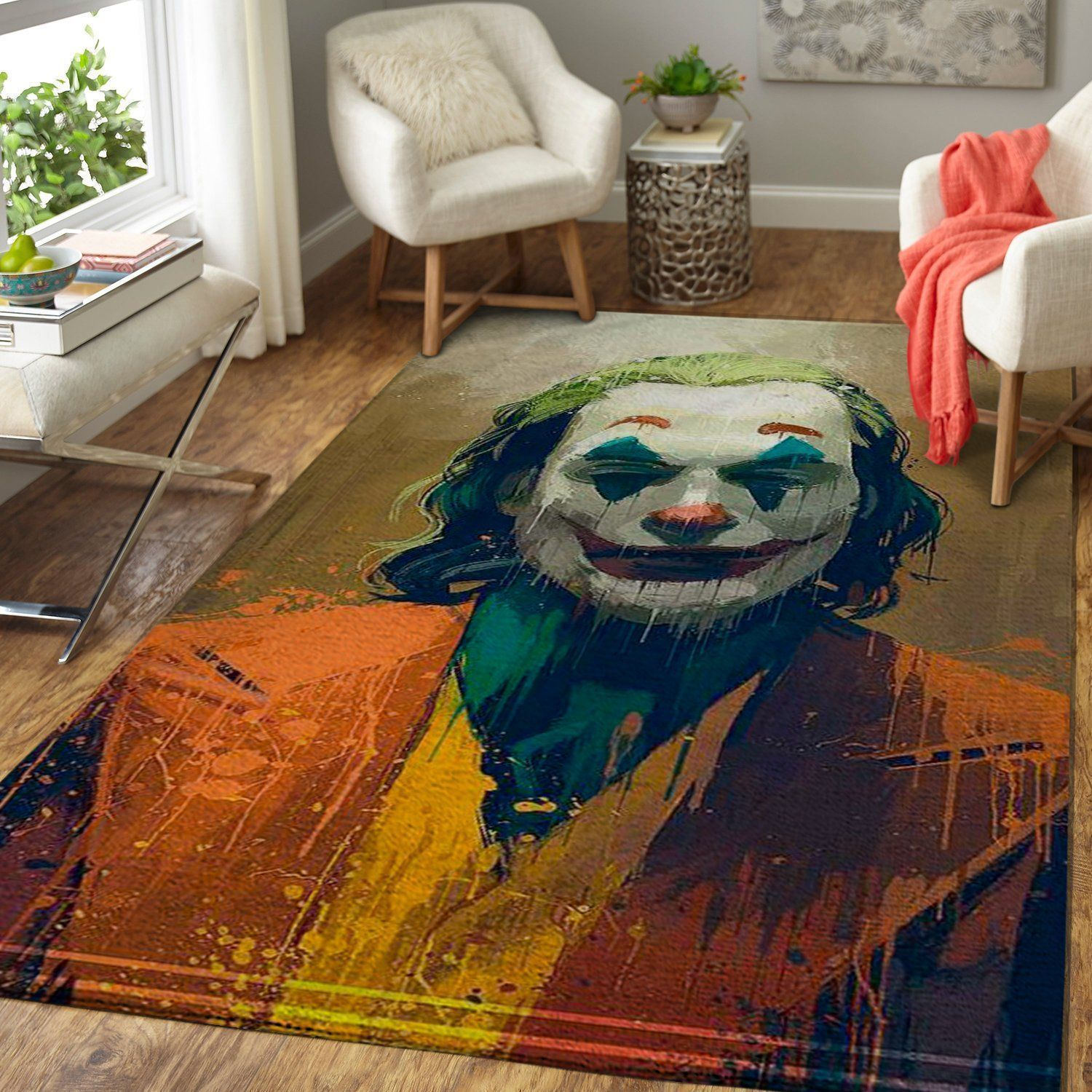 Joker Area Rugs, Movie Living Room Carpet, Custom Floor Decor