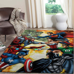 Justice League vs Avenger SuperHeros Movies Area Rugs Living Room Carpet Christmas Gift Floor Decor RCDD81F33827
