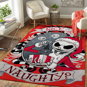 Scary Santa Jack - The Nightmare Before Christmas Area Rugs / Movie Living Room Carpet, Custom Floor Decor 190909