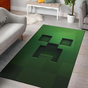 Minecraft Area Rug Video Game Carpet, Gamer Living Room Rugs, Floor Decor M301015
