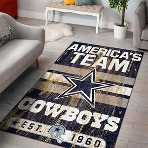 Dallas Cowboys Area Rugs NFL Football Living Room Carpet Team Logo Custom Floor Home Decor 01111918