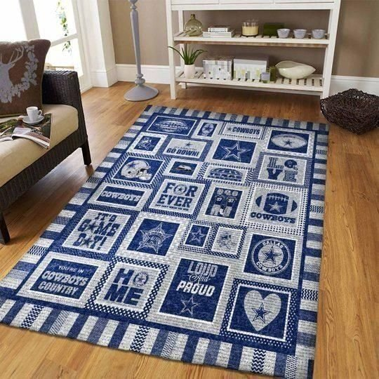 Dallas Cowboys Area Rugs NFL Football Living Room Carpet Team Logo Custom Floor Home Decor 0111196