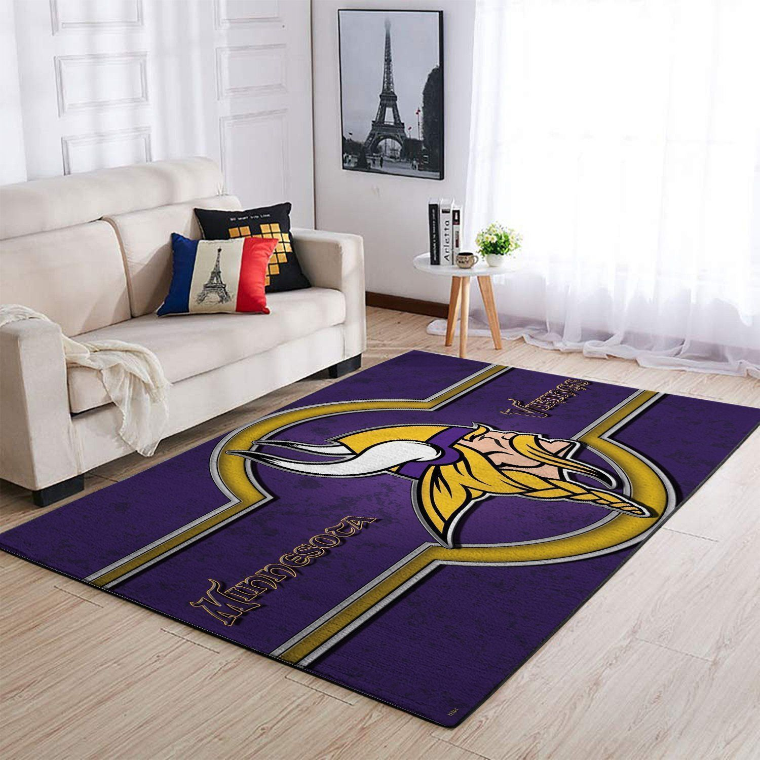 Minnesota Vikings Area Rugs NFL Football Living Room Carpet Team Logo Custom Floor Home Decor 1910073
