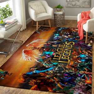 League Of Legends Area Rug, Gaming Carpet, Gamer Living Room Rugs, Floor Decor 19091618
