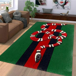 Gucci Area Rug, Red Snake Hypebeast Carpet, Luxurious Fashion Brand Logo Living Room  Rugs, Floor Decor 07111