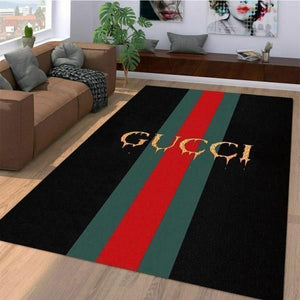 Gucci Area Rugs Luxury Hypebeast Living Room Carpet, Fashion Brand Logo Rugs Home Floor Decor 07114