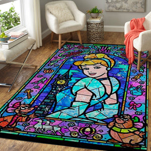 Disney Princess Area Rugs Disney Cartoons Carpet Living Room Carpet, Custom Floor Decor - Cinderella