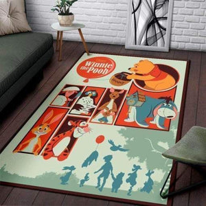 Winnie The Pooh Area Rugs, Disney Movie Living Room Carpet, Custom Floor Decor HH30104