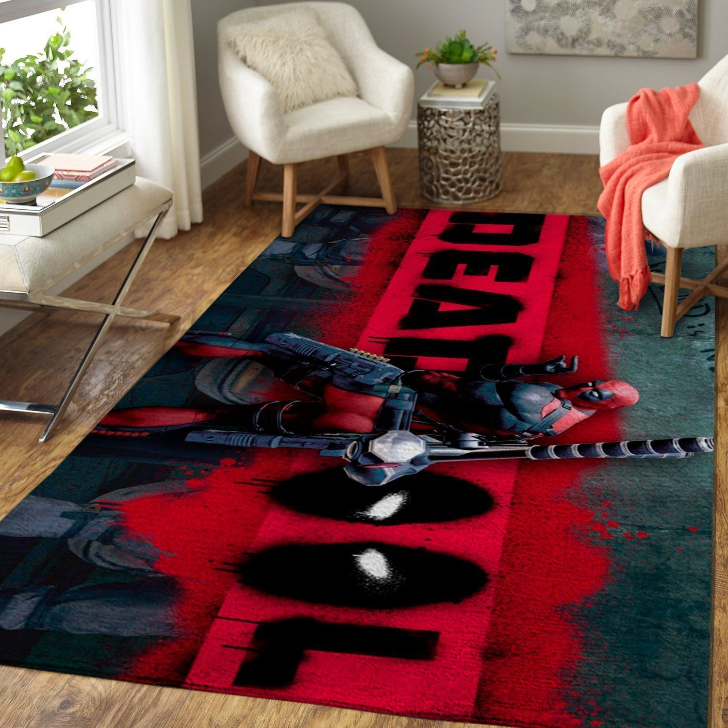Deadpool Area Rugs / Marvel Superhero Movie Living Room Carpet Custom Floor Home Decor RB7A8E7E8506
