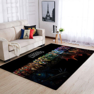 League Of Legends LOL Area Rug, Gaming Carpet, Gamer Living Room Rugs, Floor Decor 19091601