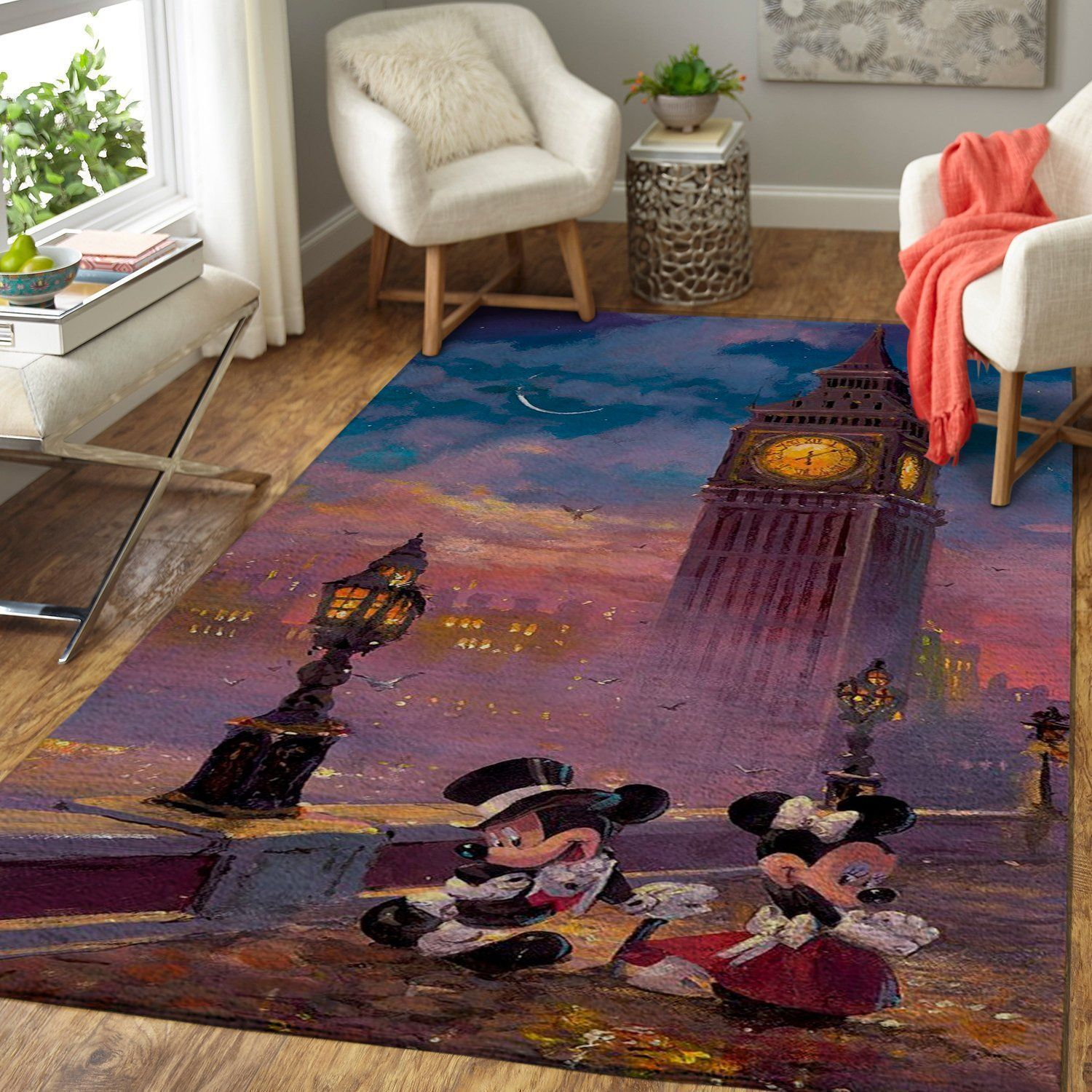 Mickey Mouse Area Rugs, Disney Movie Living Room Carpet, Custom Floor Decor 0