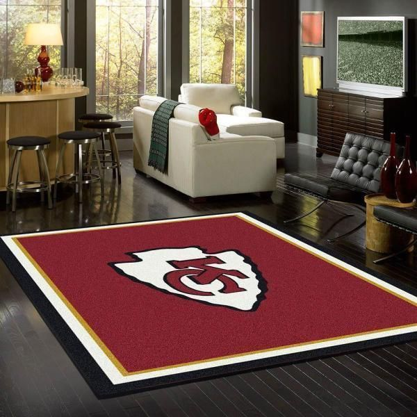 Kansas City Chiefs Area Rug, NFL Football Team Logo Carpet, Living Room Rugs Floor Decor 03115