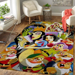 Snow White Area Rugs, Disney Movie Living Room Carpet, Custom Floor Decor D26109