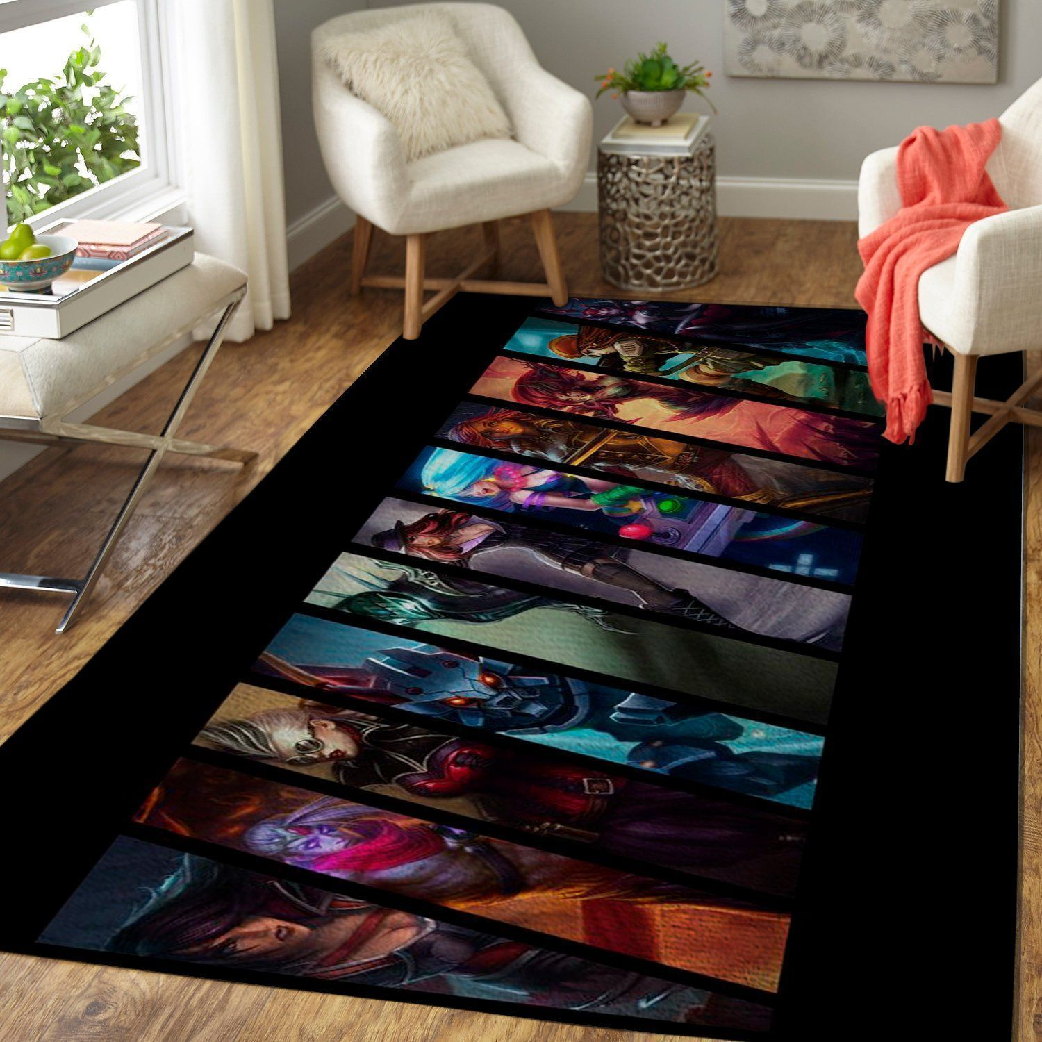 League Of Legends LOL Area Rug / Gaming Carpet, Gamer Living Room Rugs, Floor Decor 19091615