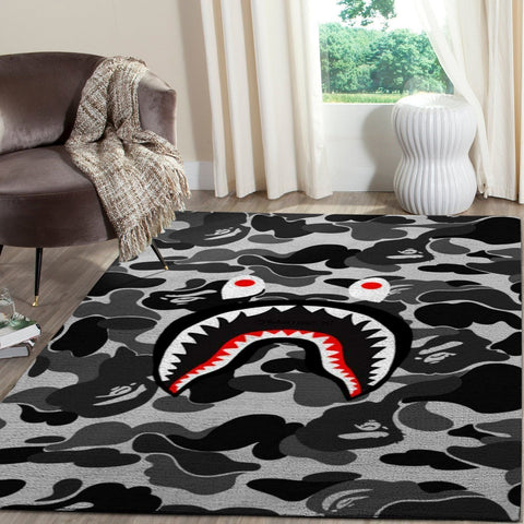 BAPE Area Rug Hypebeast Carpet, Luxurious Fashion Brand Logo Living Room  Rugs, Floor Decor 1912041
