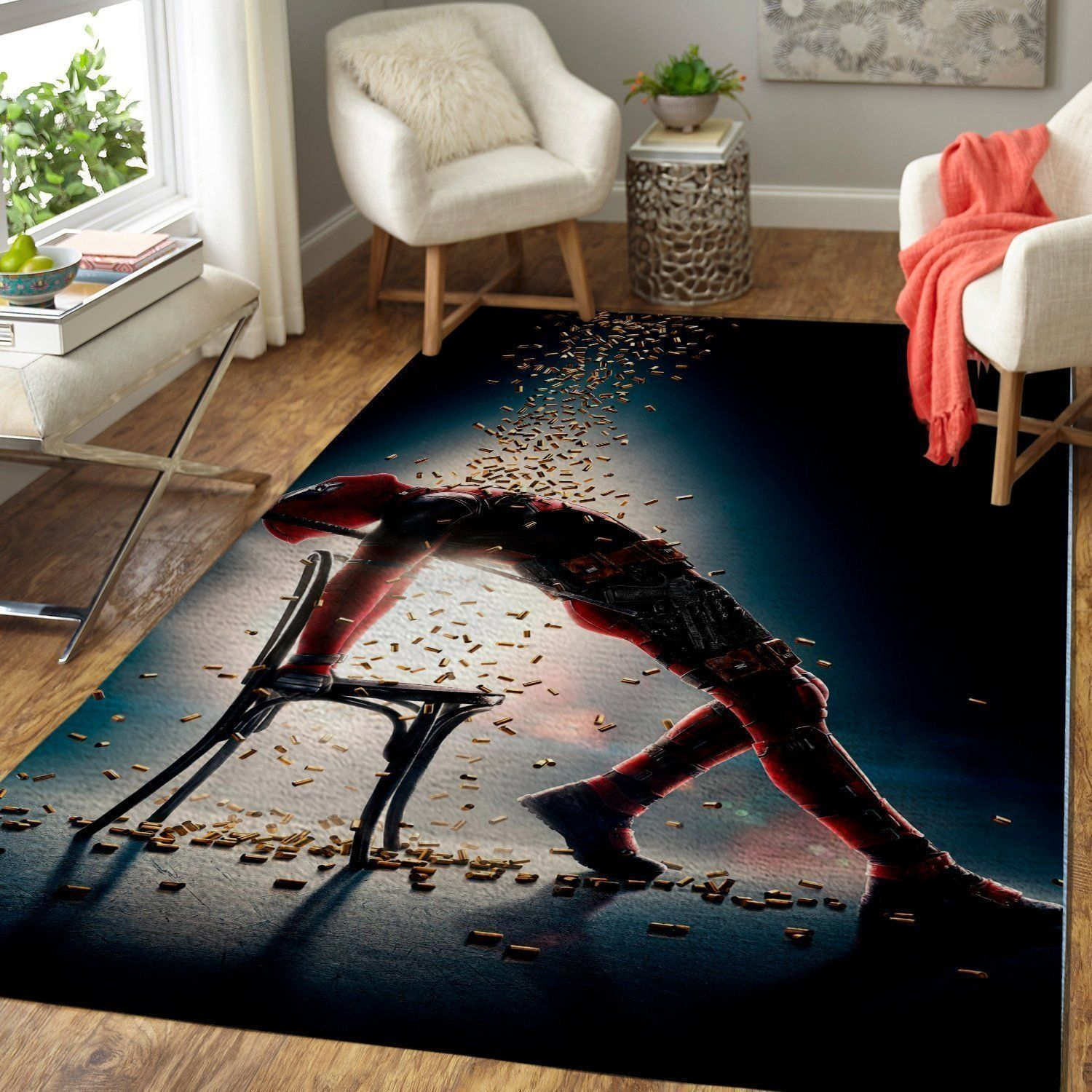 Deadpool Area Rugs / Marvel Superhero DP Living Room Carpet, Custom Floor Decor DP