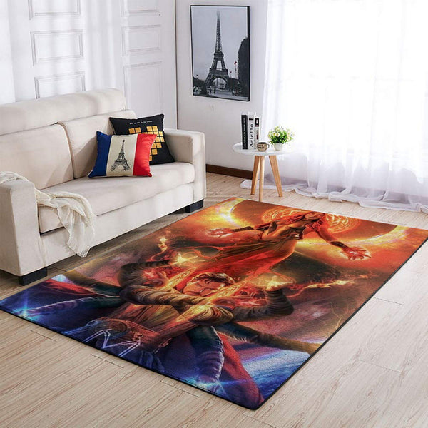 Doctor Strange & Scarlet Witch Area Rugs / Marvel Superhero Movie Living Room Carpet, Custom Floor Decor
