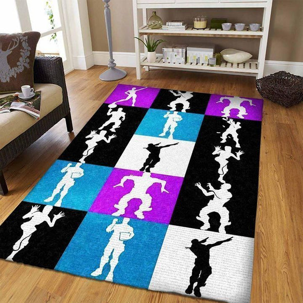 Fortnite Area Rug Video Game Carpet, Gamer Living Room Rugs, Floor Decor FN08