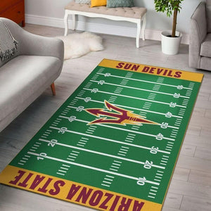 Arizona State Sun Devils Home Field Area Rug, Football Team Logo Carpet, Living Room Rugs Floor Decor F102124