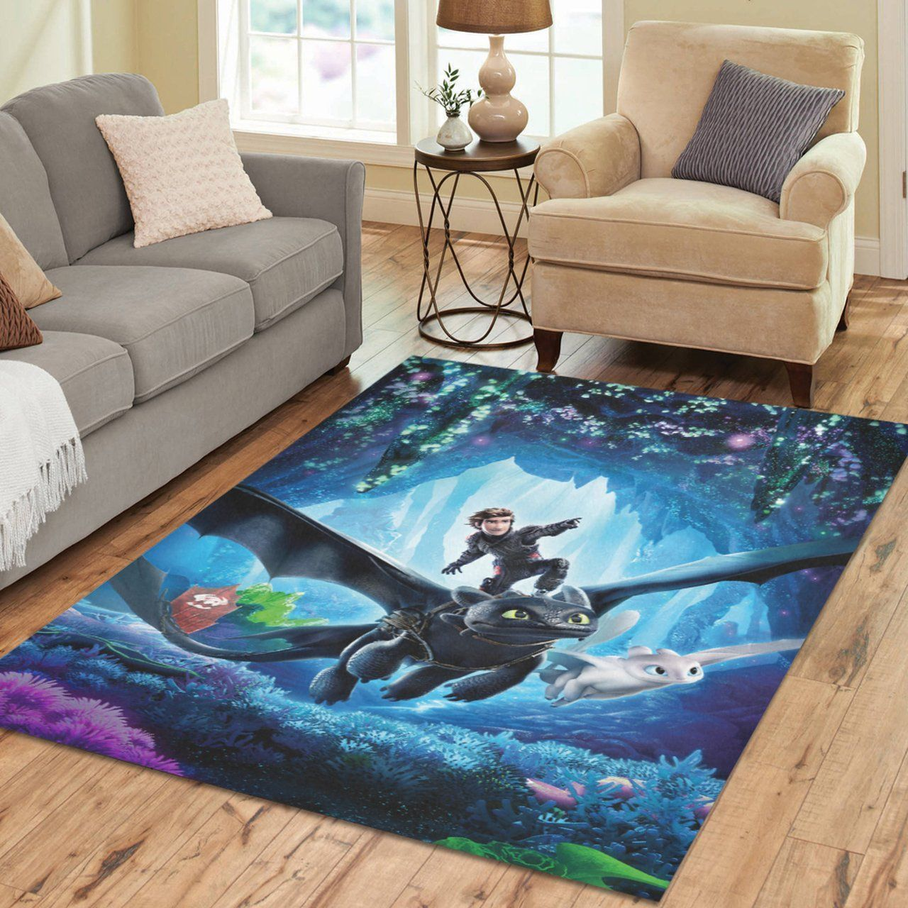 How To Train Your Dragon Area Rugs, Movie Living Room Carpet, Custom Floor Decor 101119