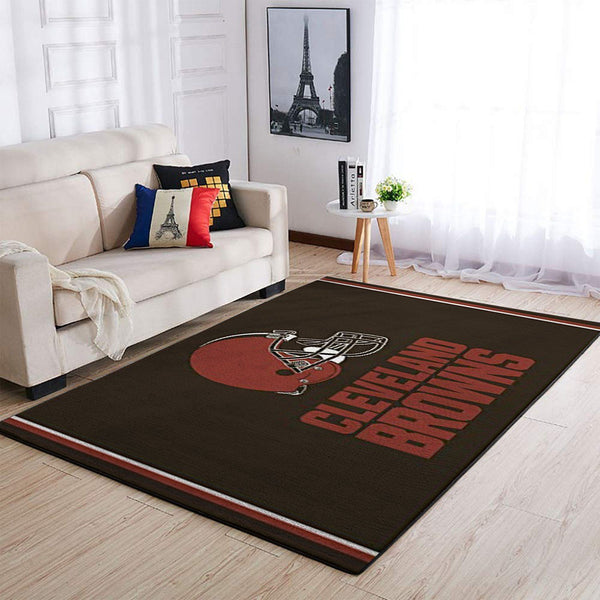 Cleveland Browns Area Rugs NFL Football Living Room Carpet Team Logo Custom Floor Home Decor CLBR01