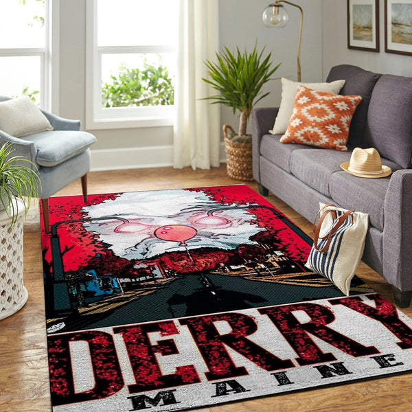 IT Chapter 2 - Derry Is Calling  Halloween Specail Area Rugs Living Room Carpet, Custom Floor Decor