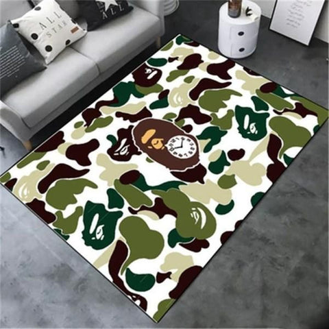 BAPE Area Rug Hypebeast Carpet, Luxurious Fashion Brand Logo Living Room  Rugs, Floor Decor 1912053