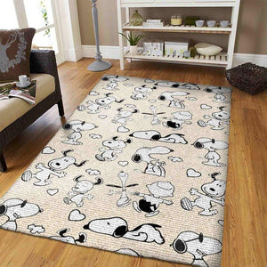 Snoopy Area Rugs, Disney Movie Living Room Carpet, Custom Floor Decor 0211