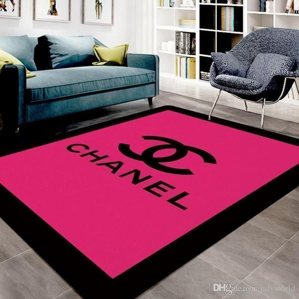 Chanel Area Rug Hypebeast Carpet, Luxurious Fashion Brand Logo Living Room  Rugs, Floor Decor 071155