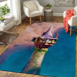 Disney Castle Area Rugs / Movie Living Room Carpet, Custom Floor Decor 1